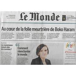 LE MONDE n°22269 19/08/2016 Esther Duflo/ Boko Haram/ Burkini/ Jean d'Ormesson/ Shadoks