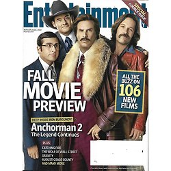 ENTERTAINMENT WEEKLY n°1272-1273 16/08/2013  Anchorman 2/ Fall movie preview: Gravity, Hunger games, Rush