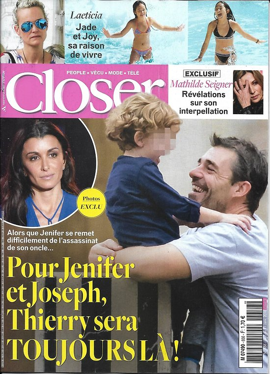 CLOSER n°656 05/01/2018  Jenifer & Neuvic/ Laeticia Hallyday/ M.Seigner/ Bieber & Gomez/ Robin Wright