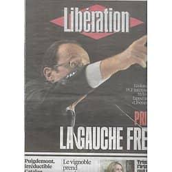 LIBERATION n°10774 21/01/2016  Primaire de la gauche/ Trish Deseine/ Carl Puigdemont/ Viticulture