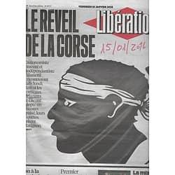 LIBERATION n°10777 15/01/2016  Réveil de la Corse/ Attentat à Jakarta/ Diversité/ Copé/ Théâtre