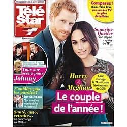 TELE STAR n°2153 06/01/2018  Harry & Meghan/ Gall & Berger/ Horn & Karembeu/ Odile Vuillemin/ Hommage à Johnny