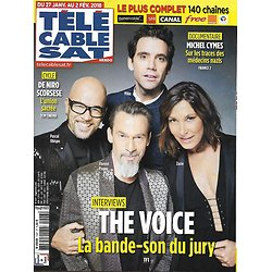 "TELECABLE SAT HEBDO n°1447 27/01/2018  The Voice: Mika, Obispo, Zazie & Pagny/ Michel Cymes/ De Niro & Scorsese/ ""Top Chef"""