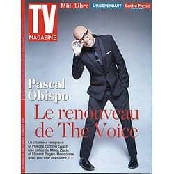 "TV MAGAZINE n°22842 21/01/2018  Pascal Obispo ""The voice""/ ""Little big stars""/ ""Gone""/ A.Fargas"