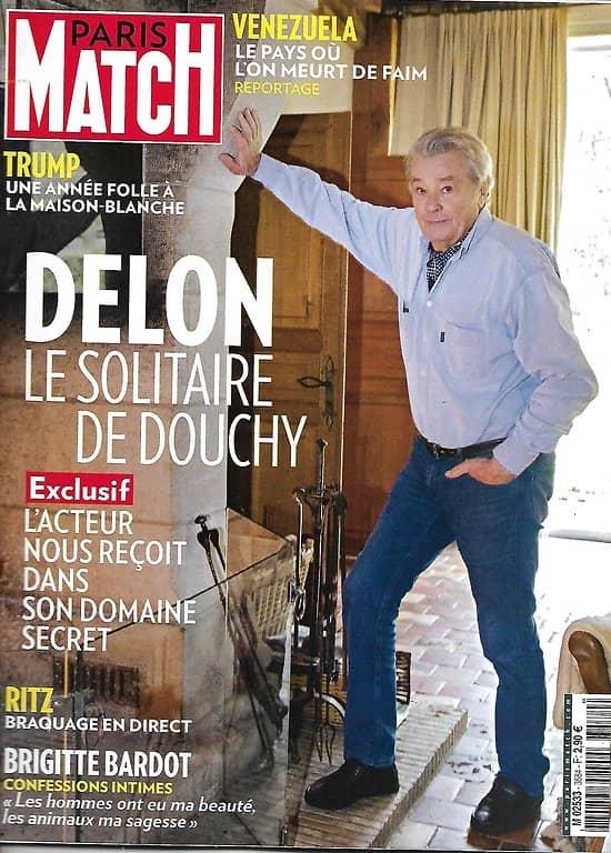 PARIS MATCH n°3584 18/01/2018  Exclusif: Alain Delon/ L'année folle de Trump/ Brigitte Bardot/ Venezuela: on y meurt de faim