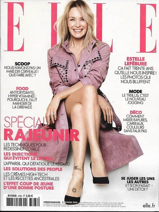 ELLE n°3763 02/02/2018  Estelle Lefébure/ Spécial rajeunir/ Louane Emera/ Egalité parentale/ Léa Drucker