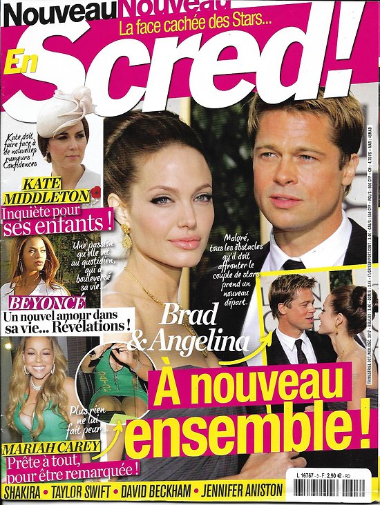En SCRED! n°3 oct.nov.2017  Brad Pitt & Angelina Jolie/ Kate Middleton/ Mariah Carey/ Beyoncé/ Clooney/ Holmes & Foxx