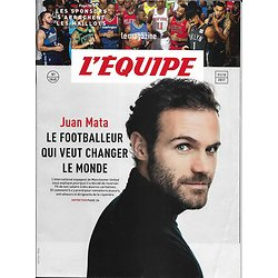 L'EQUIPE MAGAZINE n°1840 21/10/2017  Juan Mata/ Sponsors & NBA/ Football à Ushuaia/ Customisation sneakers