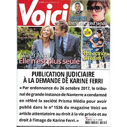 VOICI n°1565 03/11/2017  Claire Chazal/ Jenifer/ Holmes/ Spacey/ Millie Bobby Brown/ Boudali/ Jagger
