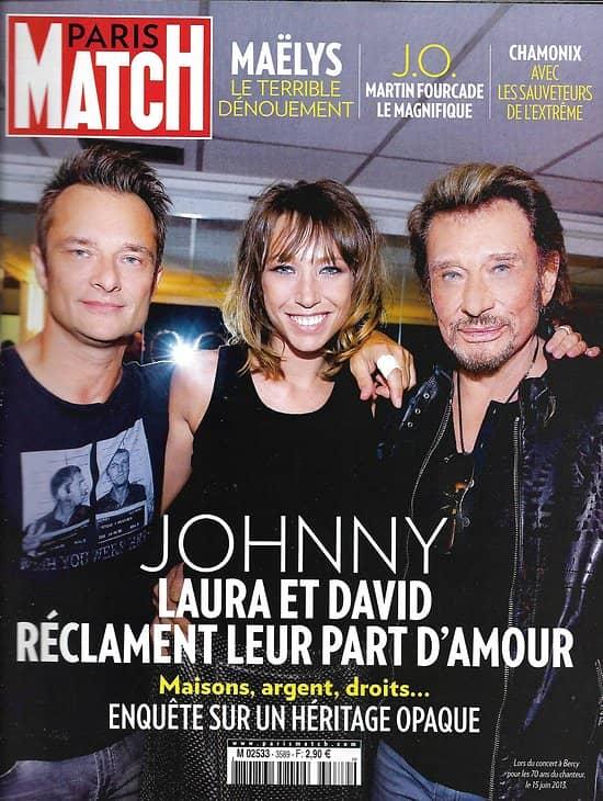 PARIS MATCH n°3589 22/02/2018  Johnny Hallyday: l'héritage opaque/ Sophie Marceau/ Sauveteurs de l'extrême/ Teddy Riner