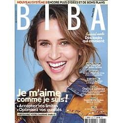 BIBA n°457 mars 2018  Je m'aime comme je suis!/ Sandrine Kiberlain/ Mode pop/ Système B/ Cheveux sublimes
