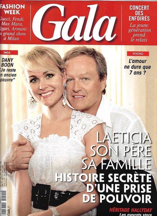 GALA n°1290 28/02/2018  Laeticia Hallyday & son clan/ Dany Boon/ Concert des Enfoirés/ fashion week Milan