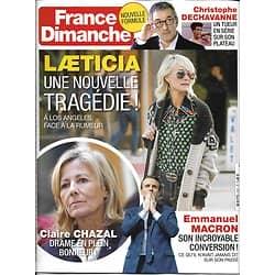 FRANCE DIMANCHE n°3727 02/02/2018 Laeticia Hallyday/ Macron/ Chazal/ Dechavanne/ Lino ventura/ Schumacher/ J.K. Rowling
