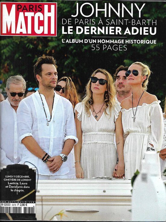 PARIS MATCH n°3579 14/12/2017 Johnny Hallyday, le dernier adieu/ Jérusalem