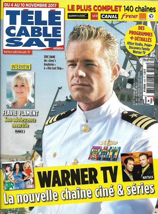 TELECABLE SAT HEBDO n°1435 04/11/2017  Warner TV/ Eric Dane/ Flavie Flament/ Sylvain Tesson/ Kate Winslet