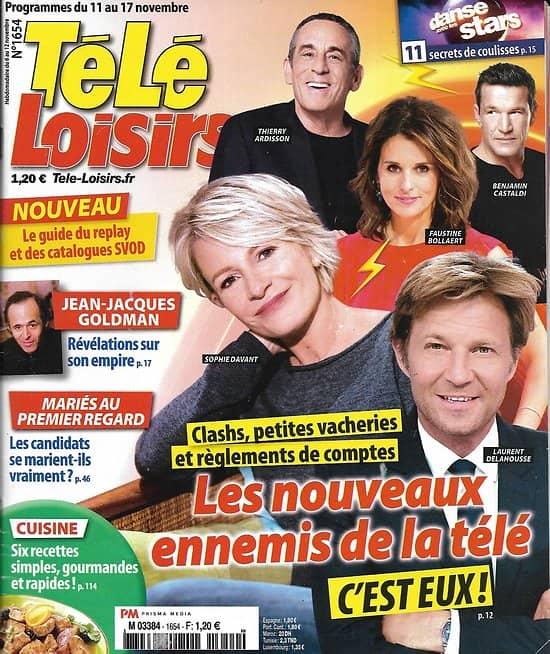 TELE LOISIRS n°1654 11/11/2017  Les ennemis de la télé/ Goldman/ Un village Français/ Belmondo/ F.Pernel
