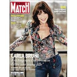 PARIS MATCH n°3582 04/01/2018  Carla Bruni/ Corruption Mollahs Iran/ Hollywood scandale/Ophélie Meunier/ Séoul/ Survivre dans un bunker