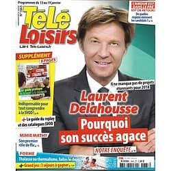 TELE LOISIRS n°1663 13/01/2018  Laurent Delahousse/ Guide VOD/ Peaky Blinders/ P.Sébastien/ Dechavanne