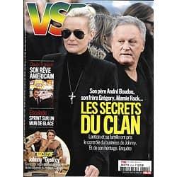VSD n°2114 01/03/2018   Laeticia Hallyday: les secrets du clan/ Claude François: son rêve américain/ Affaire Seznec/ Brian Joubert/ Spécial terroir