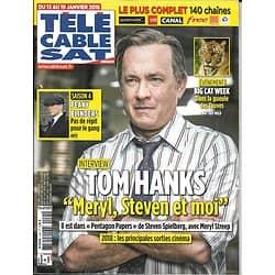 TELECABLE SAT HEBDO n°1445 13/01/2018  Tom Hanks/ Peaky Blinders/ Big Cat Week/ P.Lacheau