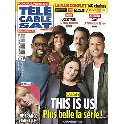 TELECABLE SAT HEBDO n°1446 20/01/2018  This is us/ France Gall/ Dave/ Joeystarr/ G.Canet