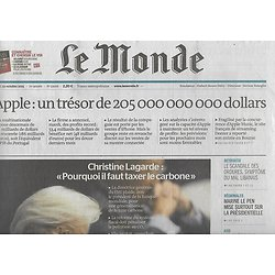 LE MONDE n°22016 29/10/2015  Bras de fer Renault & l'Etat/ Trésor d'Apple/ Indignés de Beyrouth/ Air cocaïne