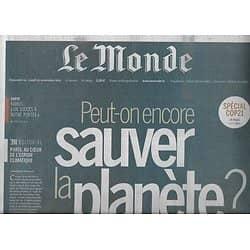 LE MONDE n°22043 30/11/2015 Spécial COP 21/ Sauver la planète/ Antiterrorisme/ Finances Etat islamique/ RFI