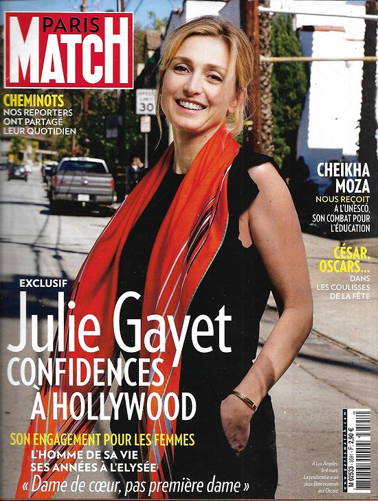 PARIS MATCH n°3591 08/03/2018  Julie Gayet/ Oscars/ César/ Stephen King/ Cheminots/ Morts de Mossoul