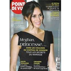 POINT DE VUE n°3643 16/05/2018  La folie Meghan & Harry/ Mariage à Windsor/ Charles & Camilla/ Maurane