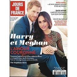 JOURS DE FRANCE n°20 avril-juin 2018  Harry & Meghan/ Vente Rockefeller/ Zazie/ Miou-Miou/ Cruz/ Iles de Venise/ Auteuil/ Castelbajac