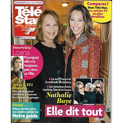 TELE STAR n°2163 17/03/2018  Nathalie Baye/ Loana/ Lucie Lucas/ Carole Bouquet/ Mort d'Hitler/ Maïga