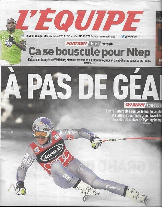 L'EQUIPE n°23171 30/12/2017  Pinturault/ Ntep/ Tessa Worley/ Fofana/ Galtier/ Lebron James/ Howe/ A.Dupont/ Botica