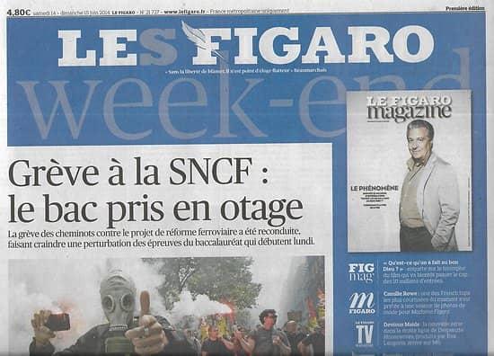 LE FIGARO n°21727 14/06/2014  Grève à la SNCF/ Food & festivals/ Alstom & Montebourg/ Bleus au Mondial/ Chiites d'Irak