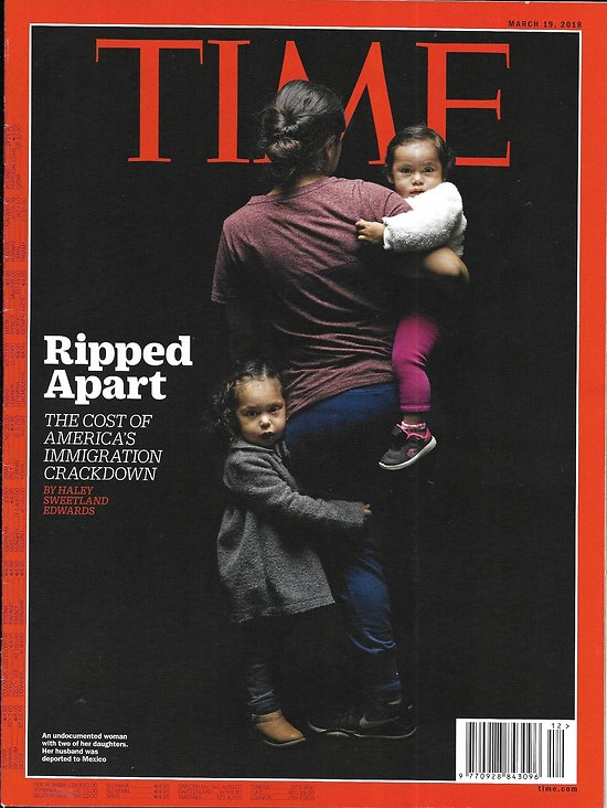 """TIME VOL.191 n°11 19/03/2018  The cost of America's immigration crackdown/ Iraq: life after wartime/ """"Frozen"""" Disney/ """"Love, Simon"""""""
