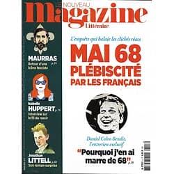 LE NOUVEAU MAGAZINE LITTERAIRE n°3 mars 2018  Spécial Mai 68/ Maurras/ Huppert/ Littell/ Dossier: Ubu (Jarry)