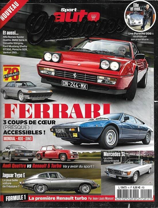 SPORT AUTO CLASSIQUES n°4 avril-juin 2017  70 ans de Ferrari/ Mercedes SL/ Jaguar Type E/ Porsche 356