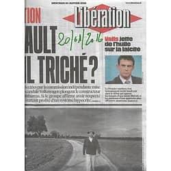 LIBERATION n°10781 20/01/2016  Renault & pollution diesel/ Michel Tournier/ Désillusion en Crimée/ Valls & Laïcité