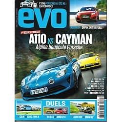 EVO n°128 déc. 2017-janvier 2018   A110 vs Cayman/ Audi RS4/ Porsche 911 GT2 Rs