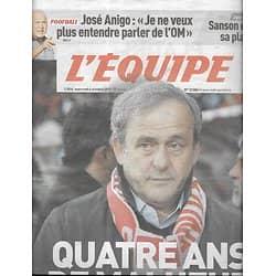 L'EQUIPE n°23084 04/10/2017  Platini/ les Bleus/ Anigo/ Pouille/ Sanson/ Clermont/ Shahid Khan