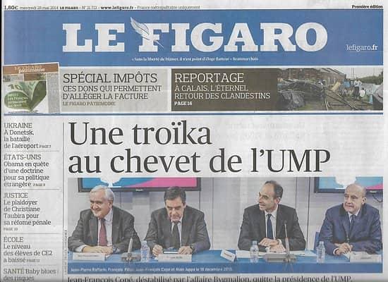LE FIGARO n°21712 28/05/2014 Chute de Copé/ Bataille de Donestk/ Diplomatie d'Obama/ Impôts/ CCI