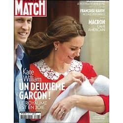 PARIS MATCH n°3598 26/04/2018  2è fils pour Kate&William/ Macron l'ami américain/ Coupe de France: Les herbiers/ Madagascar