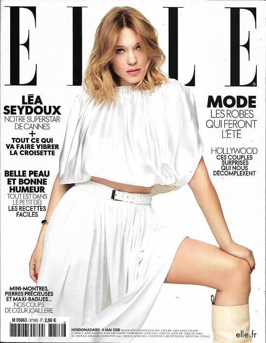ELLE n°3776 04/05/2018  Léa Seydoux/ Meghan Markle/ Matt Dillon/ Spécial Cannes/ Diversité dans cinéma/ Robes d'été
