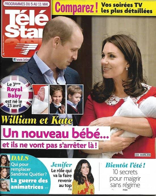 TELE STAR n°2170 05/05/2018  Kate&William/ Jenifer/ Macron/ Brad Pitt/ Blanchett/ DALS