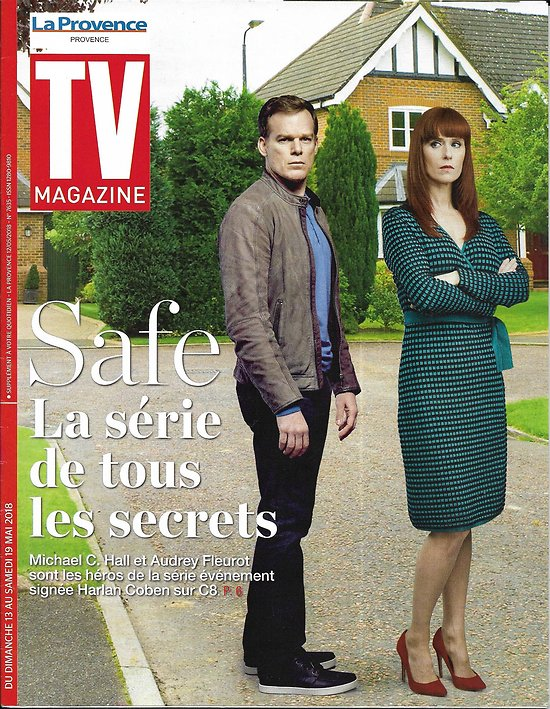 "TV MAGAZINE 13/05/2018  ""Safe"" Michael C.Hall & Audrey Fleurot/ Harry & Meghan/ Jenifer"