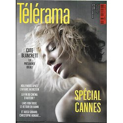 TELERAMA n°3565 12/05/2018  Spécial Cannes/ Cate Blanchett/ Christophe Honoré/ Hollywood après l'affaire Weinstein/ Edouard Philippe