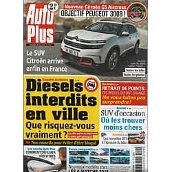 AUTO PLUS n°1551 25/05/2018  Citroën C5 Aircross/ Diesels interdits/ SUV d'occasion/ Nouveaux modèles stars