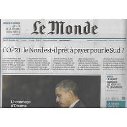 LE MONDE n°22044 01/12/2015  Cop21/ Spécial retraites/ Attaques terroristes à Paris/ Hommage d'Obama/ Luc Bondy