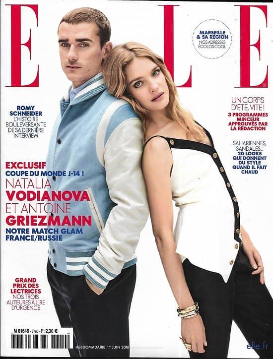ELLE n°3780 01/06/2018  Antoine Griezmann/ Vodianova/ Romy Schneider/ Spécial Green/ Food Argentine