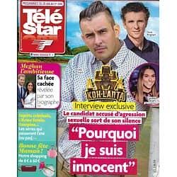 TELE STAR n°2173 26/05/2018  Affaire Koh-Lanta/ Meghan Markle/ Eddy Mitchell/ Michael Caine/ Claire Keim