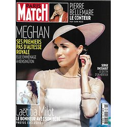 PARIS MATCH n°3603 30/05/2018  Meghan Markle/ Laëtitia Milot/ Pierre Bellemare/ Serge Dassault/ Surf Tahiti/ PSG